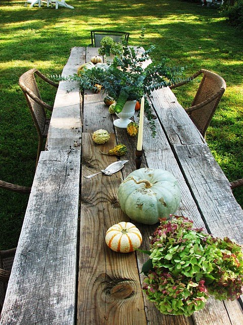 outdoor harvest table plans